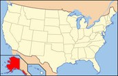 Location of Alaska on a Map