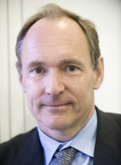 Tim Berners Lee and the World Wide Web.
