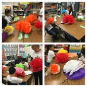 3rd grade Panthers make flowers for our Cinco de Mayo celebration!