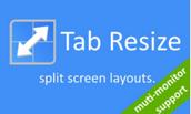 Tab Resize - Google Chrome Extension
