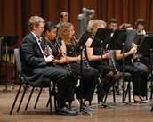Professional band playing