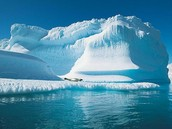 Glacier in the North Pole