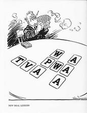 TVA, AAA, CCC, FDIC, SEC, SSA, WPA