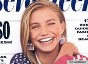 Cameron Diaz on the cover of Seventeen magazine