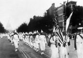 Ku Klux Klan parade down Pennsylvania Ave
