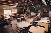 Destroyed classroom!