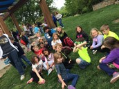 1st Grade relaxing during their trip to the zoo.