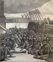 slaves held and being shipped