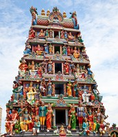 The Roof Of The Sri Mariamman Hindu Temple