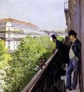 Al balcone, Caillebotte, 1880