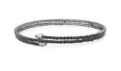 Radiance Coil Black Bracelet