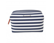 Pouf in Navy Stripe