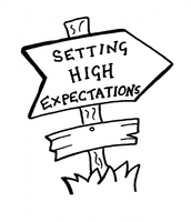 Examples that show teachers modelling their high expectations