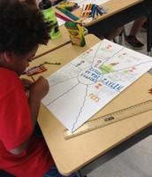 Zaylen making his math poster