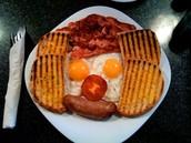 """Menu for breakfast: """"Mr food"""" 7,60£"""