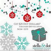 "Earn ""Dot Dollars"" through 12/15!"