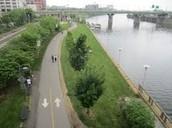 Correr al lado del río Schuylkill Trail