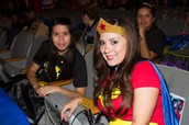 Wonder Woman makes her appearance at the BRIGHT Super Reader event!