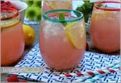 Straw-berry, lemon, and Acai Refresher