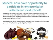 Extracurriculars... you can now participate