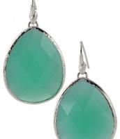 Aqua Stone Serenity Drop Earrings