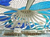 Cathedral of Brasilia, inside dome