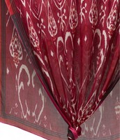Palm Spring Scarf - Red Ikat