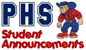 PHS Student Daily Announcements