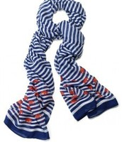 Palm Spring Scarf navy/white stripe elephant- original price $59, sale price $25