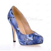 Blue High Heel Brazil Women Shoe