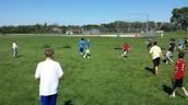 7th vs. 8th grade in football at recess