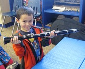 First grade instrument explorers: Checking out the clarinet