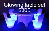 Glow Round Table Set