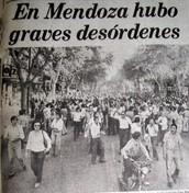 Mendoza y la dictadura.