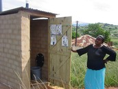 A Toilet in Africa built by NGOs