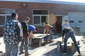 Construction students build for community.