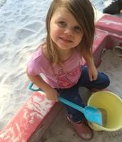 Tayla fills her bucket