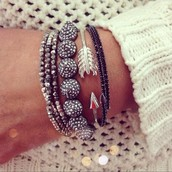 Nikita Stretch Bracelet (second from left)