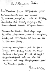 """4. APARTS - """"In Flanders Fields"""" a Classic WWI Poem."""