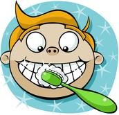 Me lavo los dientes.