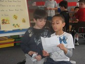 Letter exchange with our Third grade buddies.