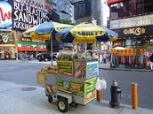 A hot dog stand