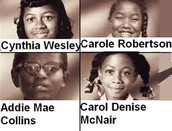 Girls who died in the bombing