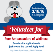 Become a Peer Ambassador of Wellness!