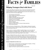 Helping Teenagers Deal with Stress