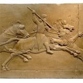 Ashurbanipal Royal Lion Hunt Assyrian King 668 BC