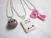 Rock, Paper, Scissors BFF Necklace