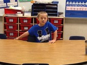 Marcus pretending to be the teacher!!
