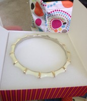 White and gold bangle