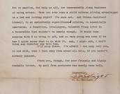 Salinger Letter
